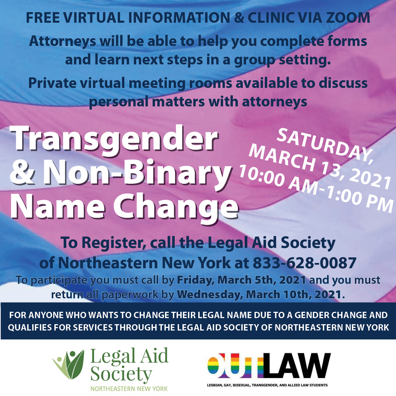 Transgender & Non-Binary Name Changes – Virtual Information and Clinic