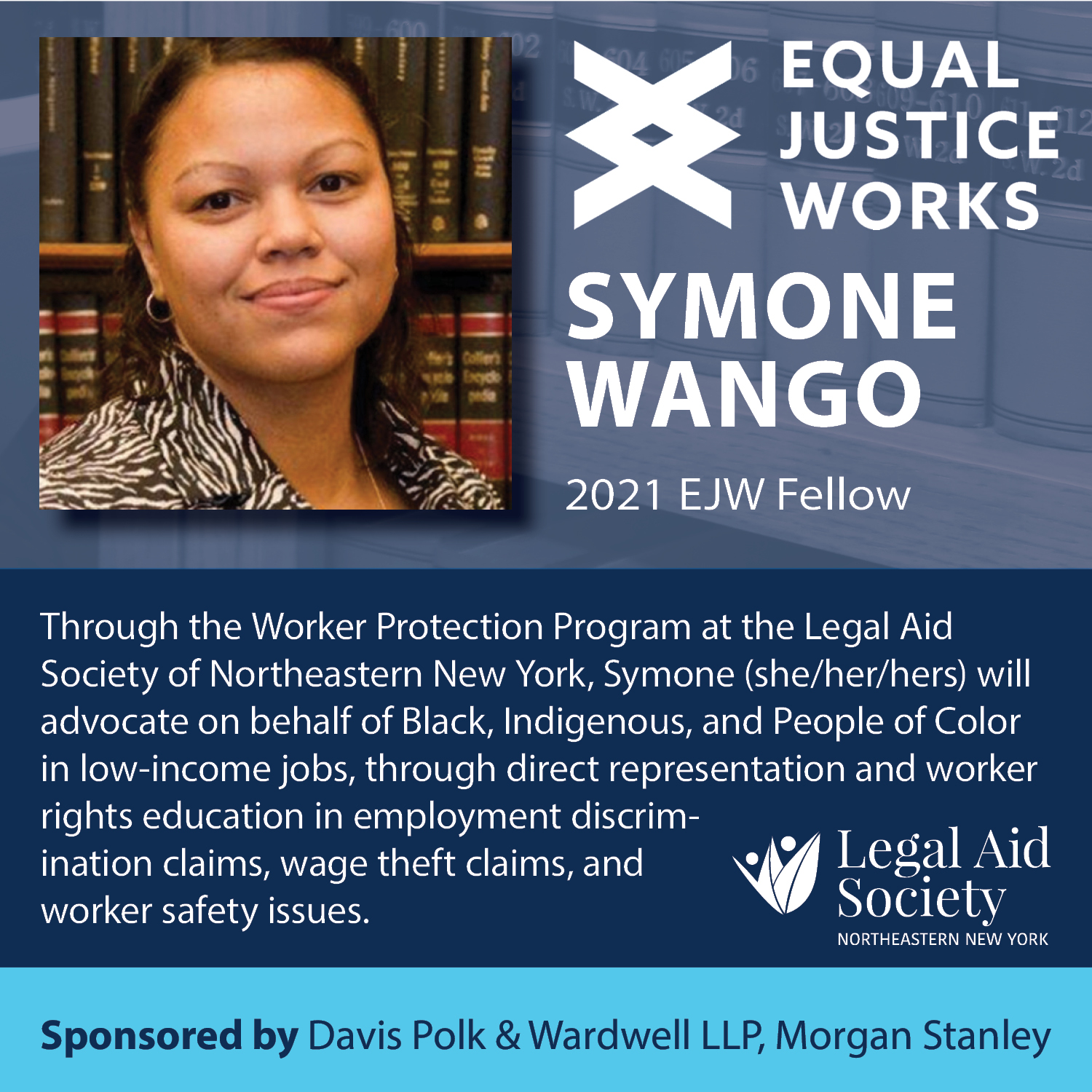 LASNNY welcomes Equal Justice Works 2021 Fellow Symone Wango