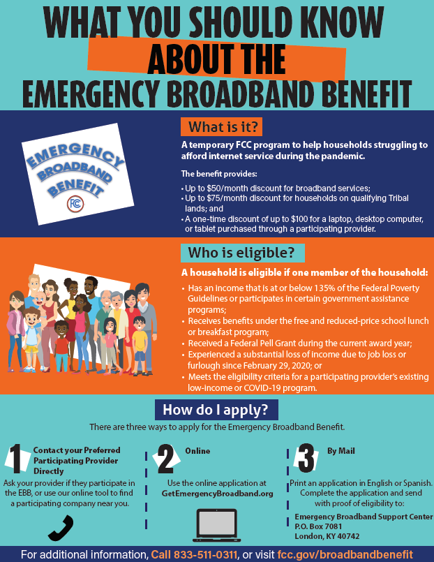 The Emergency Broadband Benefit Program - Helping people stay connected during the COVID-19 pandemic